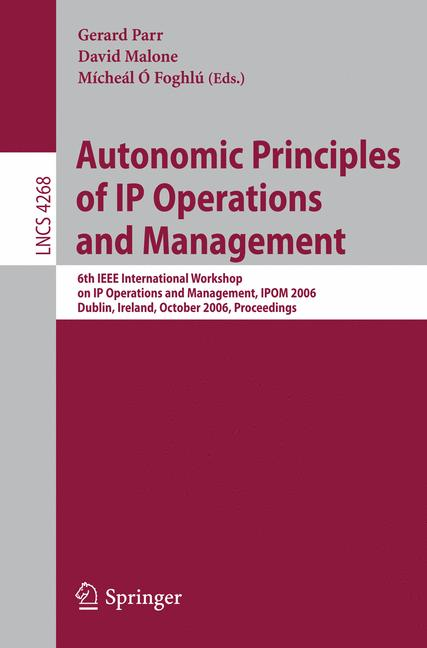 Cover of 'Autonomic Principles of IP Operations and Management'