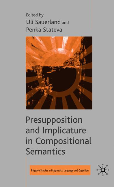 Cover of 'Presupposition and Implicature in Compositional Semantics'