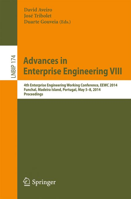 Cover of 'Advances in Enterprise Engineering VIII'