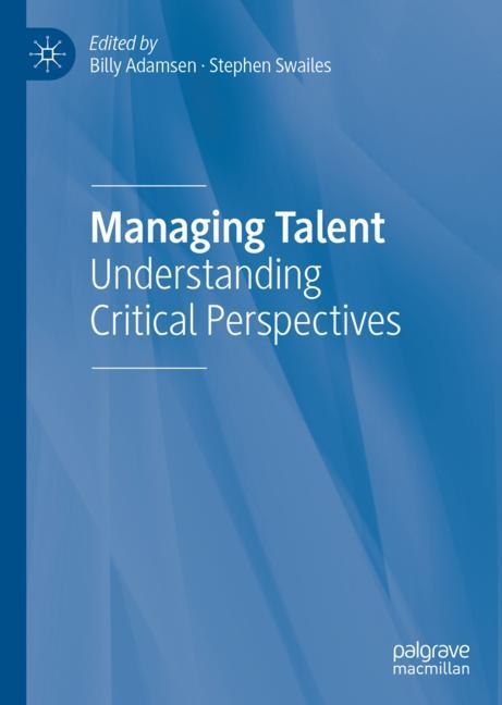 Cover of 'Managing Talent'