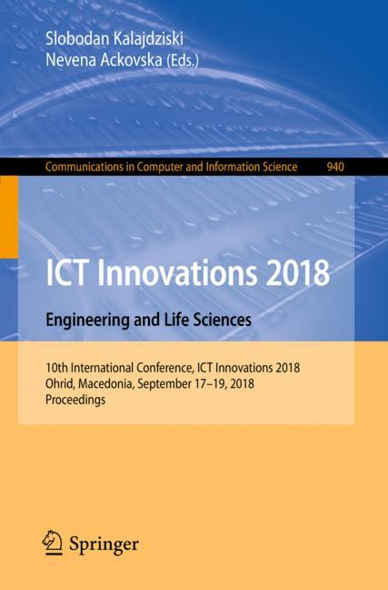 Cover of 'ICT Innovations 2018. Engineering and Life Sciences'