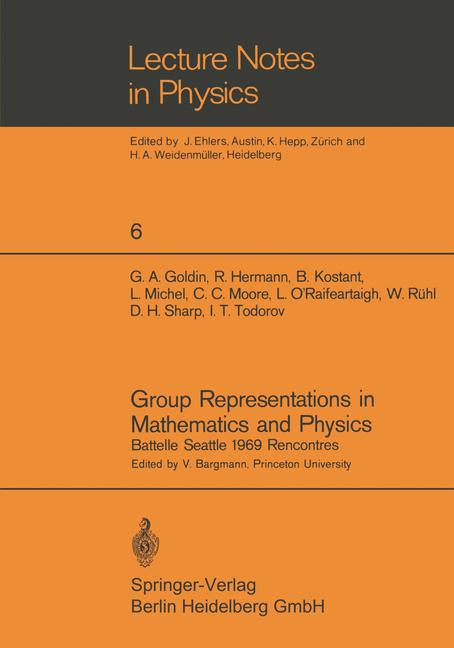 Cover of 'Group Representations in Mathematics and Physics'