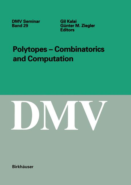 Cover of 'Polytopes — Combinatorics and Computation'