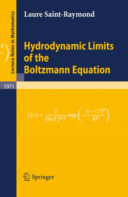 Cover of 'Hydrodynamic Limits of the Boltzmann Equation'