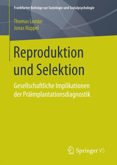 Cover of 'Reproduktion und Selektion'