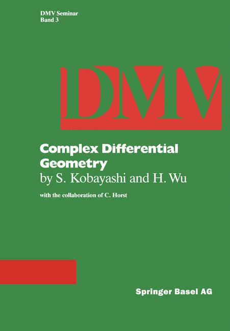 Cover of 'Complex differential geometry'