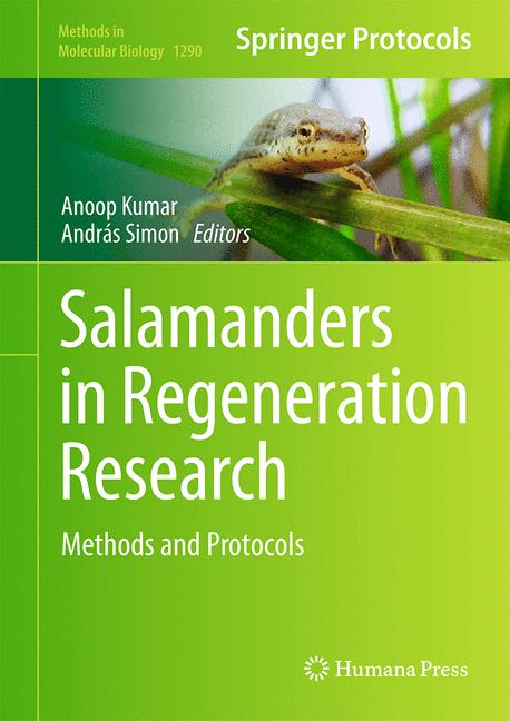 Cover of 'Salamanders in Regeneration Research'
