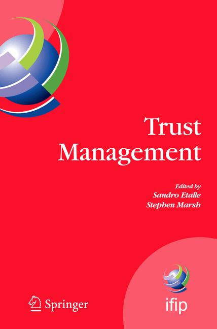 Cover of 'Trust Management'