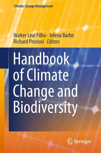 Cover of 'Handbook of Climate Change and Biodiversity'