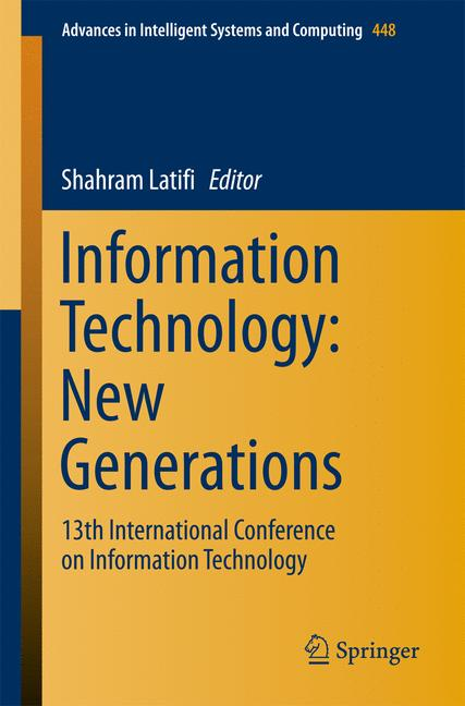 Cover of 'Information Technolog: New Generations'