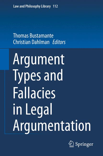 Cover of 'Argument Types and Fallacies in Legal Argumentation'