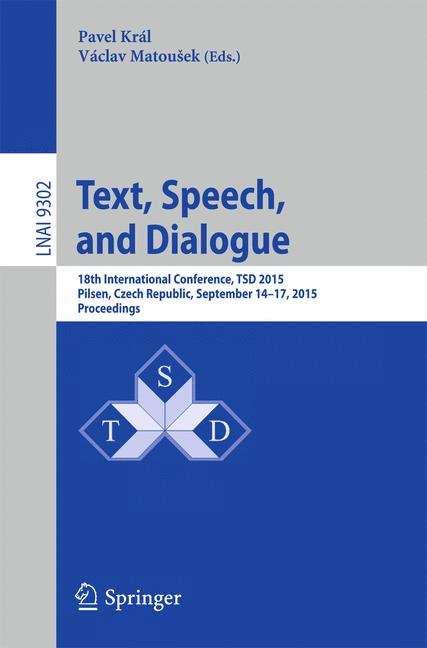 Cover of 'Text, Speech, and Dialogue'