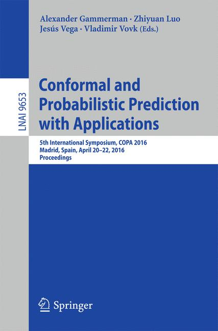 Cover of 'Conformal and Probabilistic Prediction with Applications'
