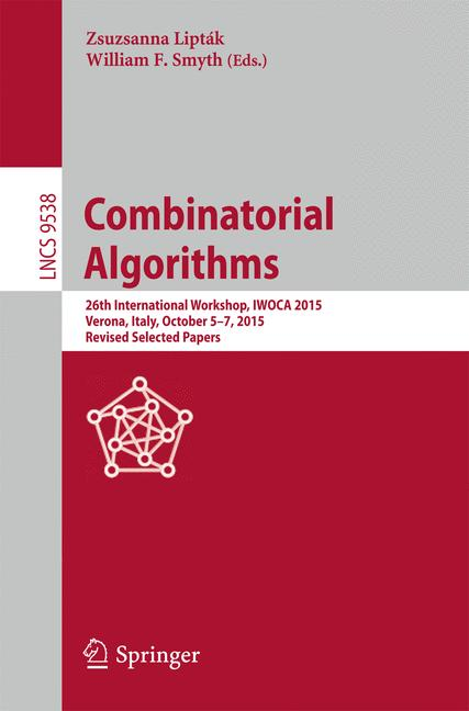 Cover of 'Combinatorial Algorithms'