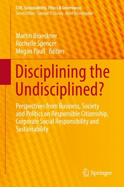 Cover of 'Disciplining the Undisciplined?'