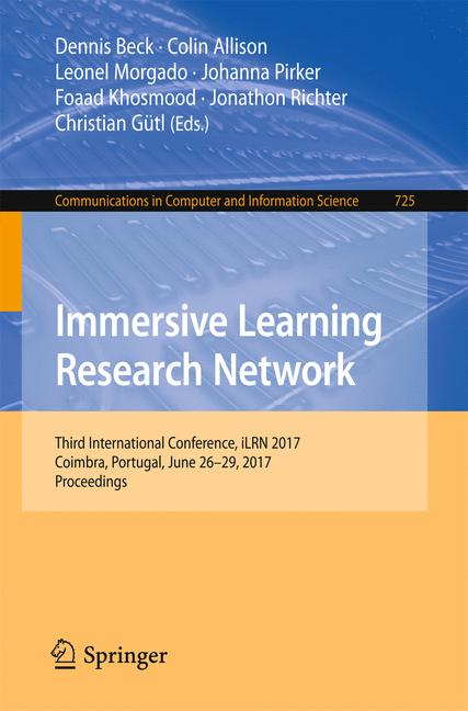 Cover of 'Immersive Learning Research Network'