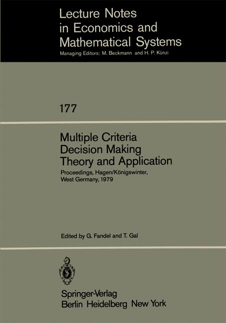 Cover of 'Multiple Criteria Decision Making Theory and Application'