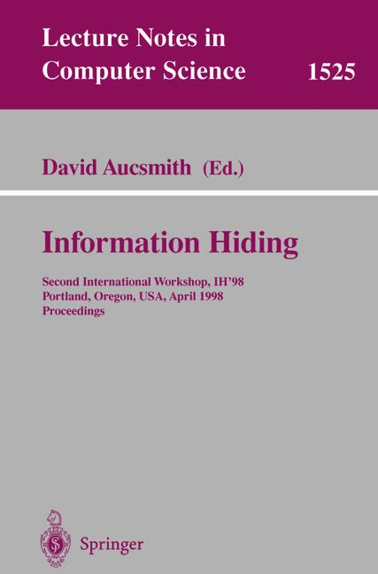 Cover of 'Information Hiding'