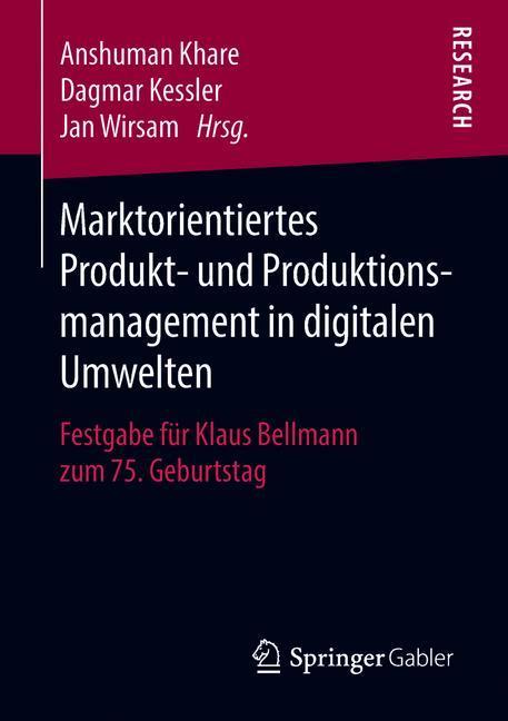 Cover of 'Marktorientiertes Produkt- und Produktionsmanagement in digitalen Umwelten'