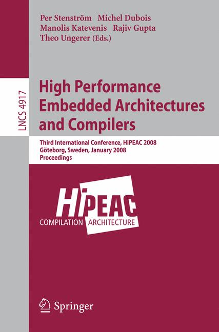 Cover of 'High Performance Embedded Architectures and Compilers'