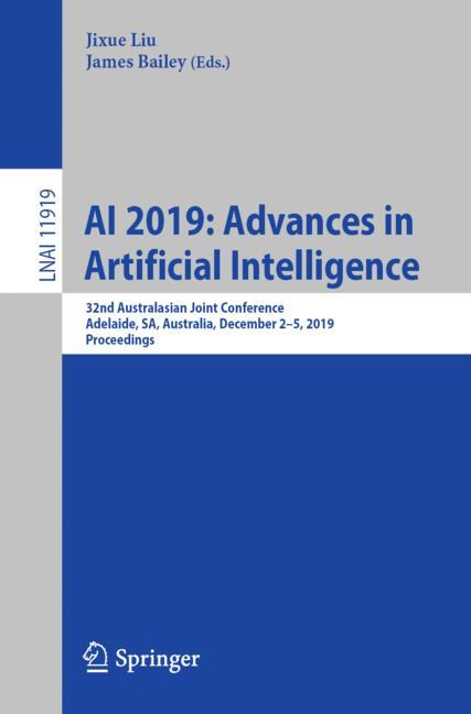 Cover of 'AI 2019: Advances in Artificial Intelligence'