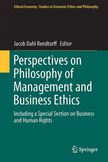 Cover of 'Perspectives on Philosophy of Management and Business Ethics'