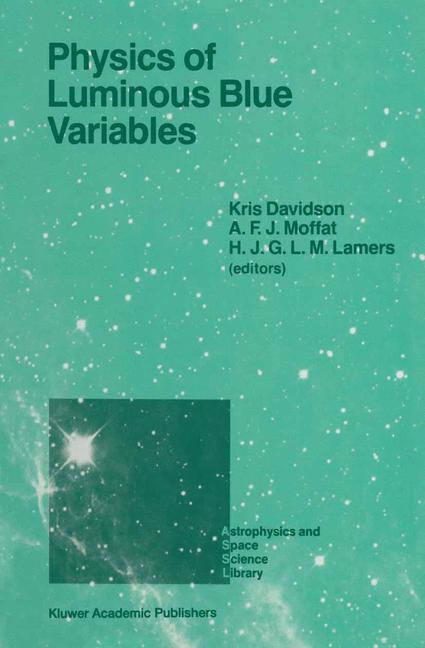 Cover of 'Physics of Luminous Blue Variables'