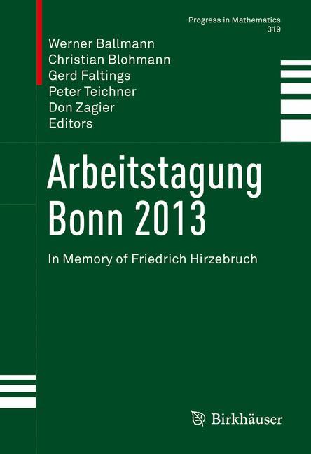 Cover of 'Arbeitstagung Bonn 2013'