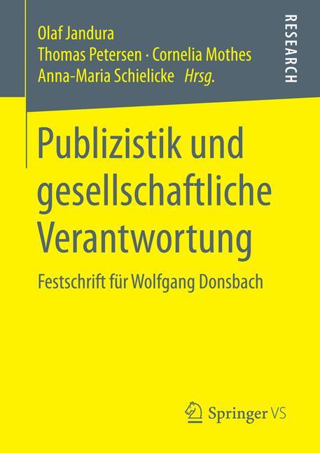 Cover of 'Publizistik und gesellschaftliche Verantwortung'