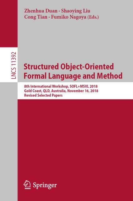 Cover of 'Structured Object-Oriented Formal Language and Method'