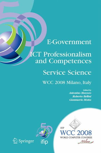 Cover of 'E-Government Ict Professionalism and Competences Service Science'