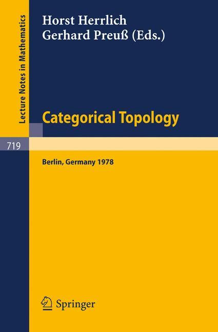 Cover of 'Categorical Topology'