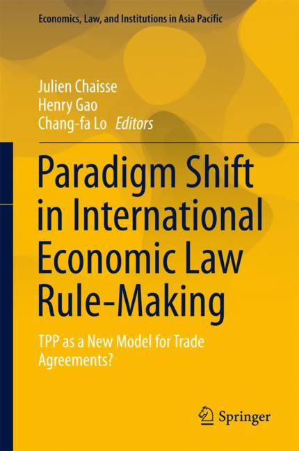 Cover of 'Paradigm Shift in International Economic Law Rule-Making'