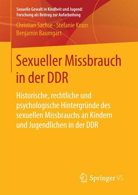 Cover of 'Sexueller Missbrauch in der DDR'