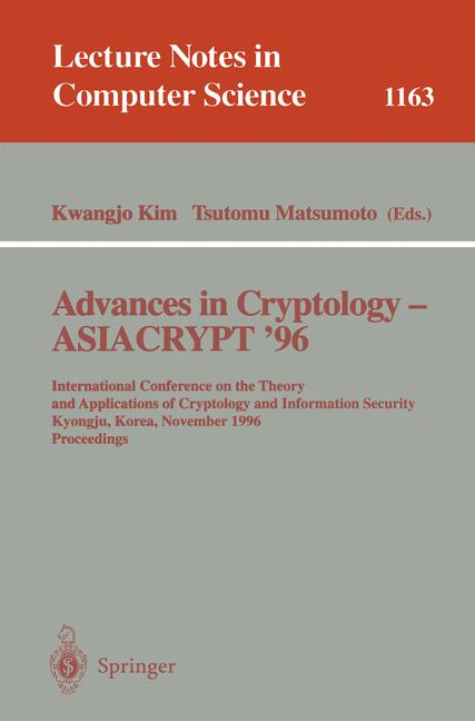 Cover of 'Advances in Cryptology — ASIACRYPT '96'