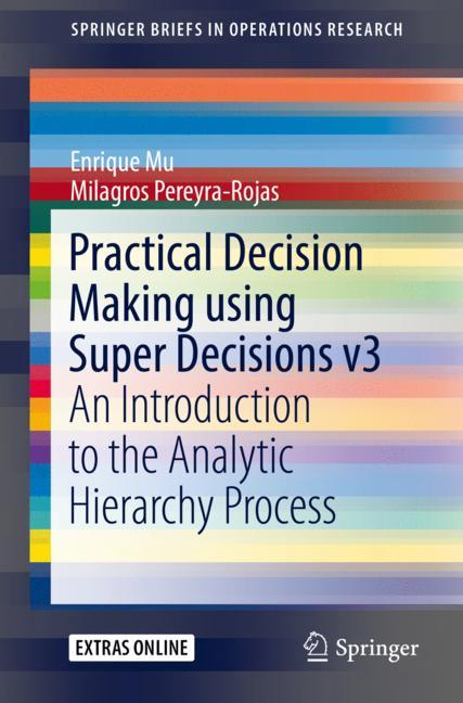 Cover of 'Practical Decision Making using Super Decisions v3'