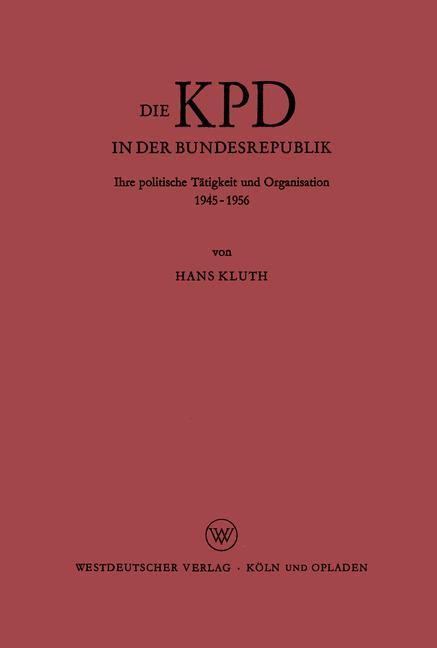 Cover of 'Die KPD in der Bundesrepublik'
