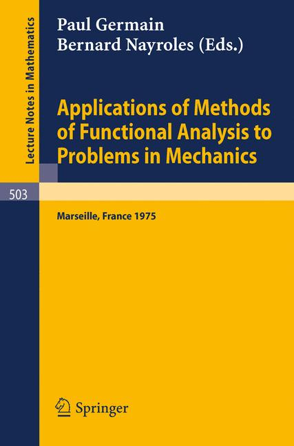 Cover of 'Applications of Methods of Functional Analysis to Problems in Mechanics'