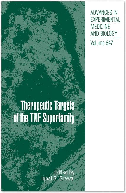 Cover of 'Therapeutic Targets of the TNF Superfamily'