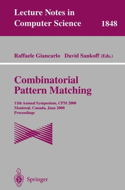 Cover of 'Combinatorial Pattern Matching'