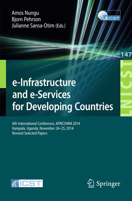 Cover of 'e-Infrastructure and e-Services for Developing Countries'