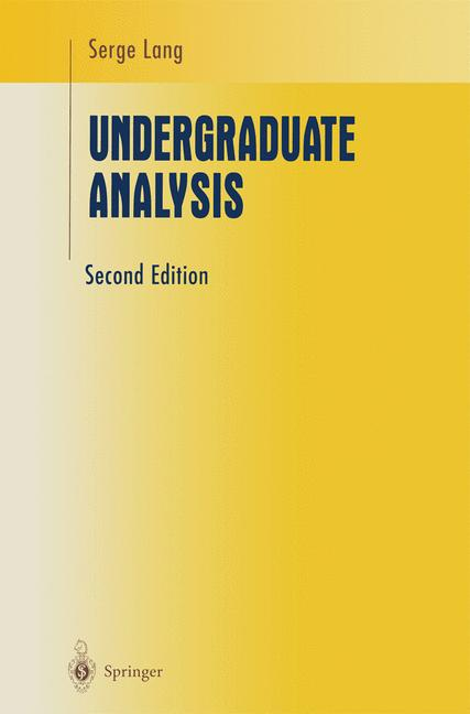 Cover of 'Undergraduate Analysis'