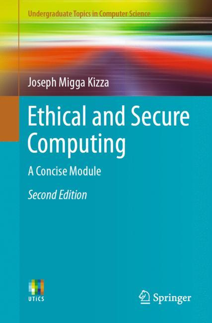 Cover of 'Ethical and Secure Computing'