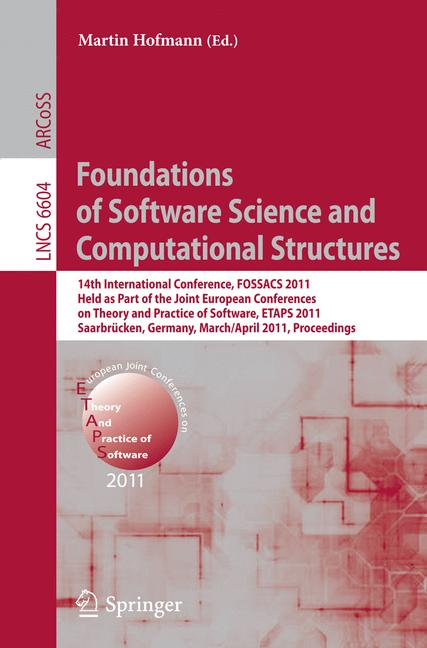Cover of 'Foundations of Software Science and Computational Structures'