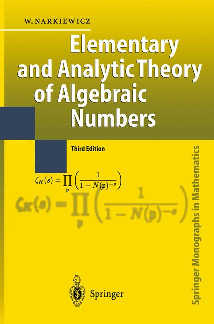 Cover of 'Elementary and Analytic Theory of Algebraic Numbers'