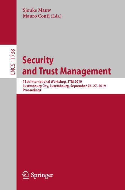 Cover of 'Security and Trust Management'