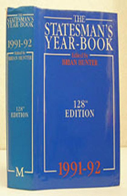 Cover of 'The Statesman's Yearbook: 1991-92'