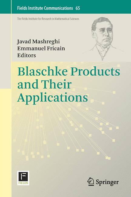 Cover of 'Blaschke Products and Their Applications'
