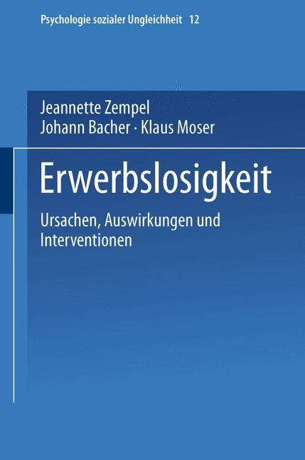 Cover of 'Erwerbslosigkeit'