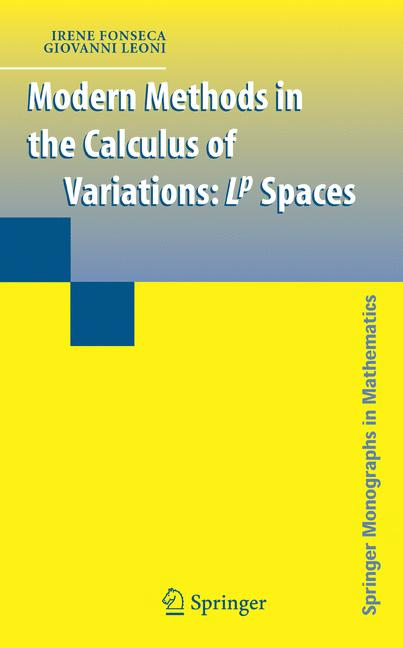 Cover of 'Modern Methods in the Calculus of Variations: Lp Spaces'